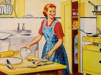 A tüchtig háziasszony lekvárt főz és szörpöt készít...