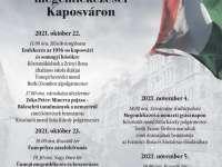 Október 23-i ünnepi programok Kaposváron