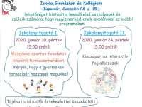 Lorántffy Zsuzsanna Református Általános Iskola nyílt napjai